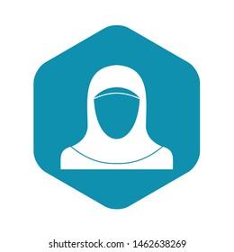 Muslim women wearing hijab icon. Simple illustration of muslim women wearing hijab vector icon for web