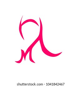 muslimah with jilbab, has mean great women logo icon