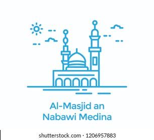 Muslims religious holy place in madina, masjid e nabvi