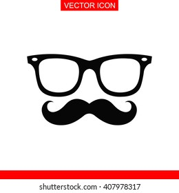 Mustache and Glasses Icon.