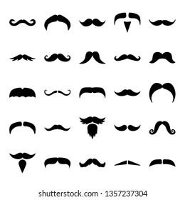 Mustache Icon Set