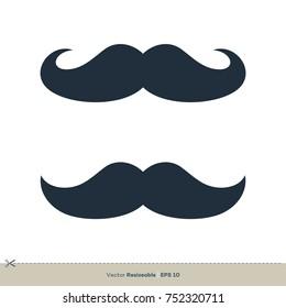 Mustache Icon Vector Logo Template