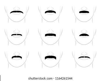Mustache icons set