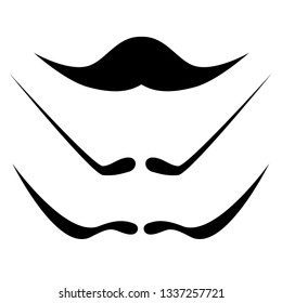 mustache  icons vector, dali mustache for carnaval and holyday