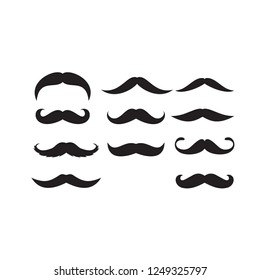 Mustache Illustration Vector Vintage Beard