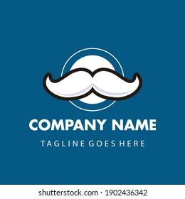 mustache logo template vector design