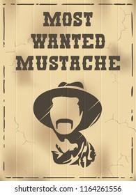 Mustache poster design