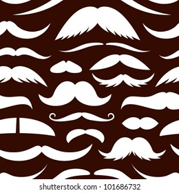 Mustache seamless pattern.