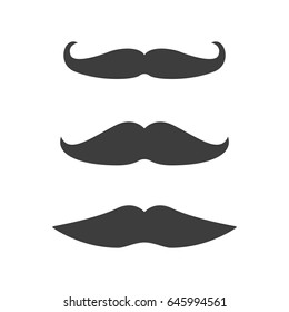 Mustache set icon isolated on background. Modern flat pictogram vector. Logo illustration.