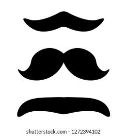 Mustache Sign. Vector