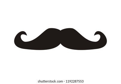 Mustache vector illustration isolated on white background