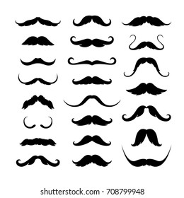 Mustaches icons set. Vector illustration EPS 10