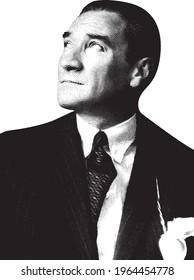 Mustafa Kemal Ataturk, Portrait from Turkey Banknotes
