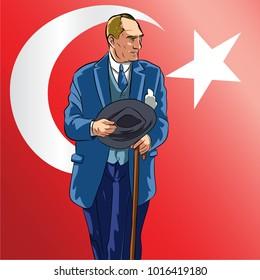 Mustafa Kemal Ataturk, Republic of Turkey's founding leader