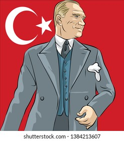 Mustafa Kemal Ataturk, Republic of Turkey's founding leader
