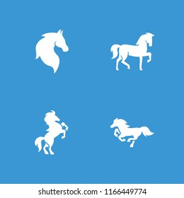 Mustang icon. collection of 4 mustang filled icons such as . editable mustang icons for web and mobile.