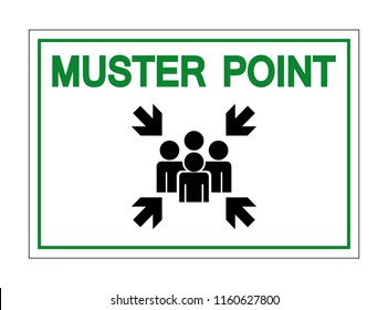 Muster Point Symbol Sign, Vector Illustration, Isolate On White Background Icon. EPS10