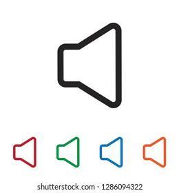 Mute vector icon