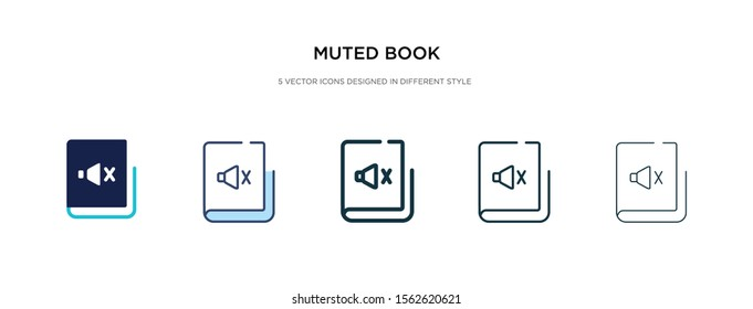 muted book icon in different style vector illustration. two colored and black muted book vector icons designed in filled, outline, line and stroke style can be used for web, mobile, ui