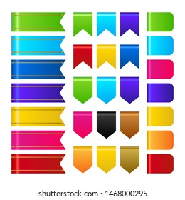Muticolor 3d ribbons collection vector