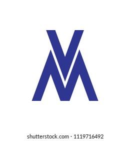 MV letter logo