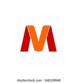 mv letter vector logo