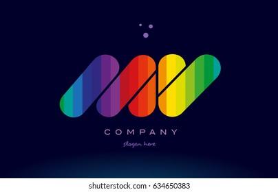 mv m v alphabet letter colorful creative colors text dots creative company logo vector icon design template