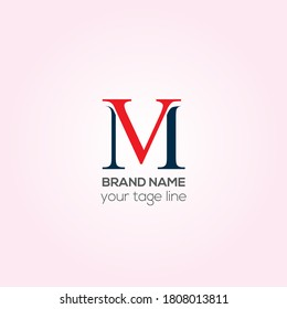MV vector logo design, VM Creative logo design