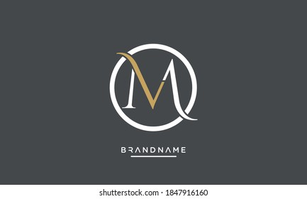 MV, VM, M, V Abstract Letters logo Emblem Monogram