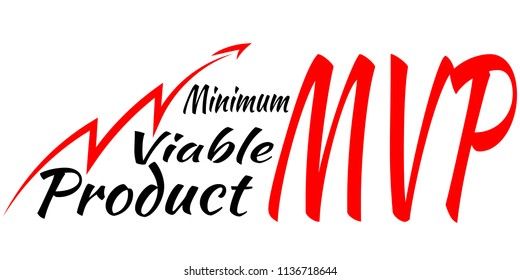 MVP - Minimum Viable Product. Business Vector Icon.
