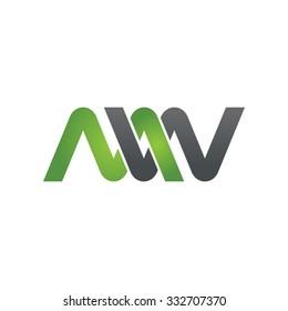 MW company linked letter logo green