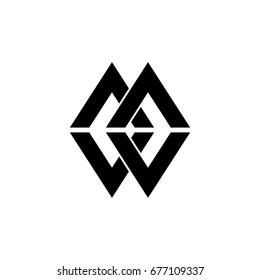 mw letter logo
