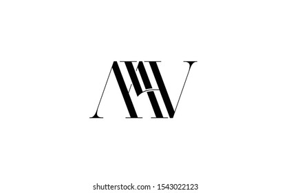 MW Letter Logo Design with Creative Modern Trendy Typography