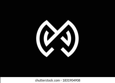 MW letter logo design on luxury background. WM monogram initials letter logo concept. MW icon design. WM elegant and Professional letter icon design on black background. M W MW WM