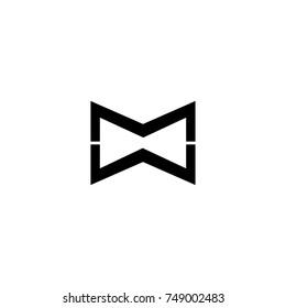 mw letter logo. mm letter logo