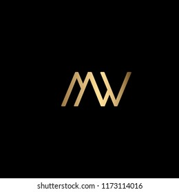 MW Logo Icon Design Using Letters M and W in a Minimalist Way