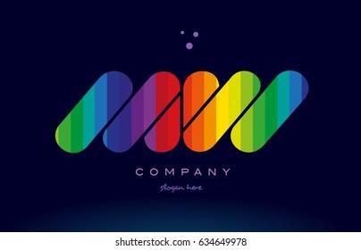 mw m w alphabet letter colorful creative colors text dots creative company logo vector icon design template