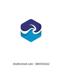 MW Mountain Wave Logo Design