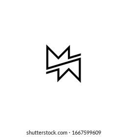 MW WM Letter Logo Design Template