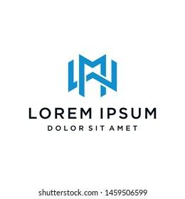 MW WM Logo Monogram Icon Vector Template