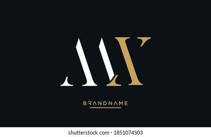 MX, XM, M, X Abstract Letters Logo Emblem Monogram