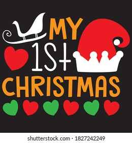 my 1st Christmas t shirt design, you can download vector file.