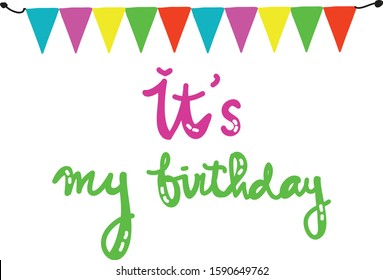 Marvelous Its My Birthday Images Stock Photos Vectors Shutterstock Personalised Birthday Cards Cominlily Jamesorg