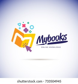 My books logo concept. online book store icon - vector illustration