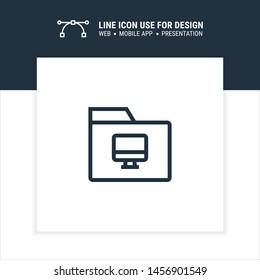 my computer folder icon design vector illustration