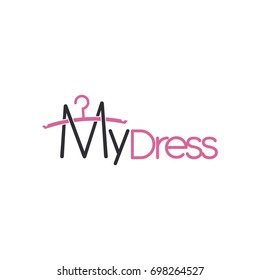 my dress with hanger logo vector