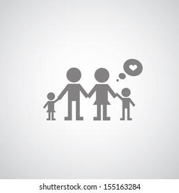 my family symbol on gray background