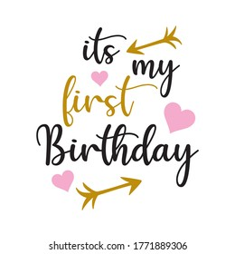 its my first birthday with hearts