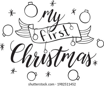 My First Christmas Vector Set