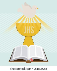 my first communion design, vector illustration eps10 graphic
